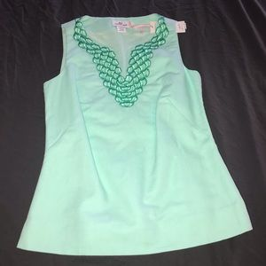 Vineyard Vines Mint Aquamarine Sleeveless Top 0